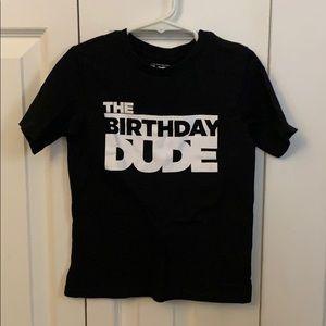 Birthday dude tshirt 4T